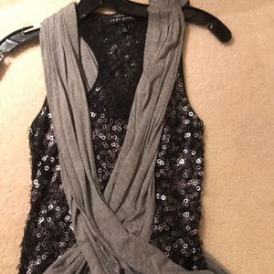 Sparkly Criss Cross Top